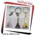 el turismo de regalo de recuerdo 3d de metal de la torre eiffel clave anillo
