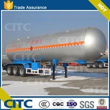 3 axles LPG gas tank CITC brand LNG&LPG storage and transport tank semi trailer