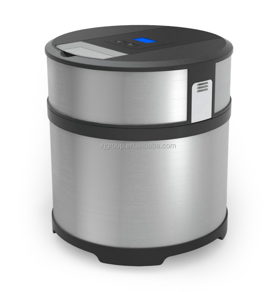 W home electric stainless steel ice cream maker xj