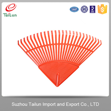 High Quality Orange 26 Tines Garden Plastic Leaf Rake Heads