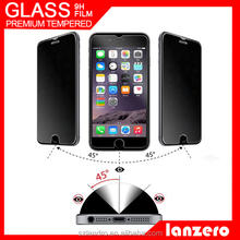 2015 hot sale privacy 9h explosion-proof tempered glass screen protector for iphone5/6/6+