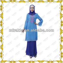 MF20958 2013 Modern Beading Baju Kurung Malaysia women