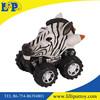 Zebra friction car toy for kids wild life park animal gift