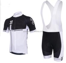 2015 fashion black men cycling wear China factory team custom cycling Jerseys