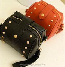 Hot sale designer rivet college student shoulder bag small Camera bag
