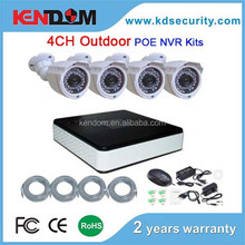 Kendom Update cctv camera system >>> 4CH NVR Kit/ NVR System Installed POE model, P2P function, auto search IPC