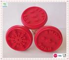 Antiaderente e durável ferramenta biscoito FDA cookies silicone selo com punho de madeira