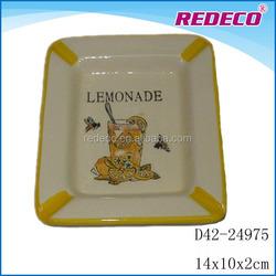 Mini ceramic serving salad plates