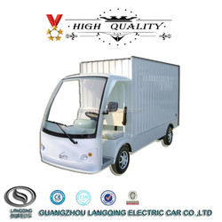 2 seater Chinese Brand LANGQING Mini Electric Cargo Van for sale