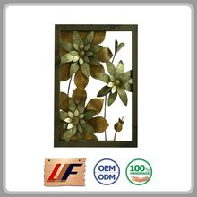Handicraft Environmentally Colorful Custom Design Metal Wall Art Home Decoration Flowers
