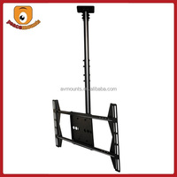 Supports display 32''-52'' weighing up to 125lbs with VESA 400x600 360 degrees rotate single display flip down tv ceiling mount