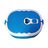 two layer stainless steel blue lunch box food thermo container