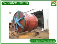 tannery machine leather process big size cow leather wooden drum