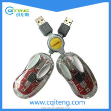 Hot Selling Wired Unique Transparent Mini Mouse For Gift Promotion