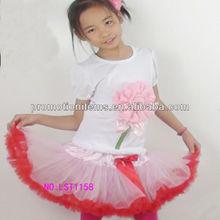 summer pettiskirt set,pink/red girl tutu set,boutique outfit