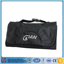 Portable Waterproof Nylon Toiletry Cosmetics Wash Bag Makeup Case Travel Hanging with buckle