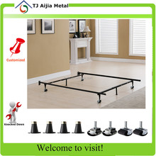 modern home furniture cheap bed frame with locking wheels