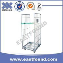 Supermarket Logistic Wire Hand Cart Wholesale,Transport Roll Trolley