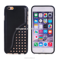 High quality new design S line hybrid mobile phone hard case cover for iphone 6 6 plus