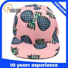 cheap wholesale custom summer fruit all digital print no logo design your own snapback cap