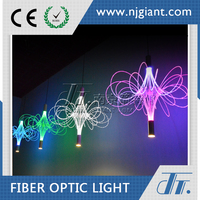 Fiber Optic Chandelier Lamp/ decorative optical fiber pendant light