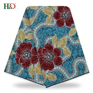 H & D Holland Gravures Hollandais Cire 6 Mètres En Gros Africain Cire Tissu Imprimé Avec Bon Prix