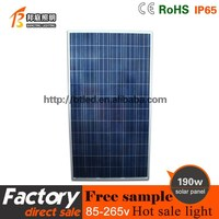 Blue High Efficiency 190W Polycrystalline Silicon TUV/CE Solar Power Panels 180w polysilicon solar panel for home use