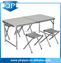 aluminum folding picnic table with 4 chairs for outdoor and garden