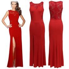 Red Elegant lady's open evening Wedding Dress