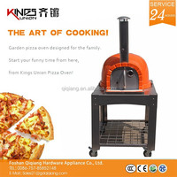 Factory Price KU-001 Powder Coating In Orange Natural Clay Wood Fired Pizza Oven