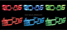 Flashing Glasses Red Blue Jumbo LED Light Up Party Costume Sunglasses 2016 new year glasses green blue red