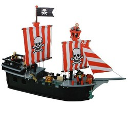 film element toy wooden pirate ship toy
