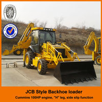 with Cimmins engine, hyraulic system, H/A leg, CE, Chinese mini cheap 2.5 Ton monoblock backhoe wheel loader for sale