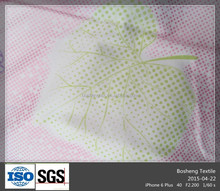 Glod or Silver printing Polyester brushed textile fabric used for bedding,curtain and mattress cover