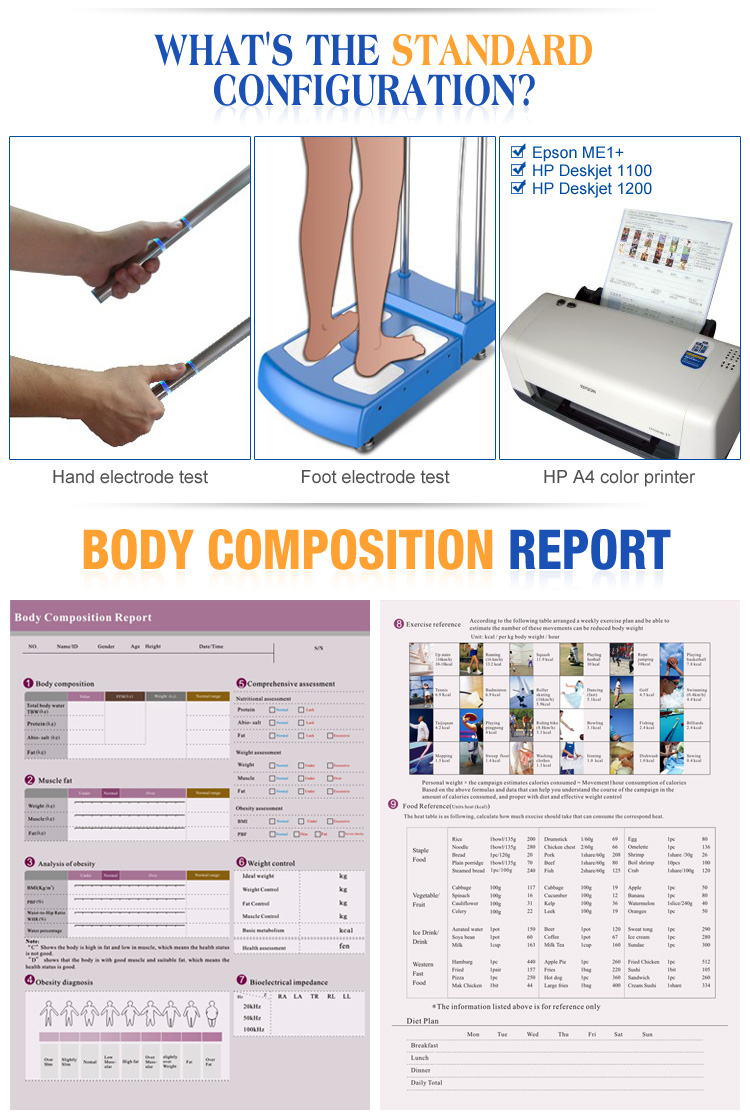 New machine quantum bio-electric body composition analyzer machine