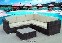 Wicker Sofa Set Outdoor Patio Deck Sunroom Furniture
