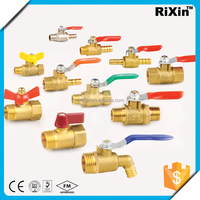 "RX 1168 1/4"" lockable water valve 1/4"" propex lf brass commercial ball valve 1/4"" brass gas valve fxm price"