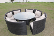 KD style dinning poly rattan furniture