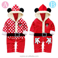 SFL1510166 Hot Selling Kids Christmas Dresses Fleece Clothing Thick Dresses And Rompers