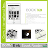 best selling price paperwhite front light 6.8'' HD screen T68 e ink reader