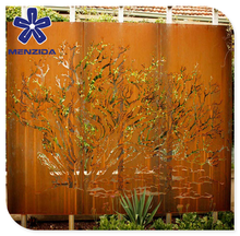 Australia style laser cutting rusty screen for outdoor privacy