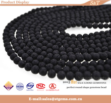 Factory wholesale price lava bead for 6mm gemstone bead bracelet