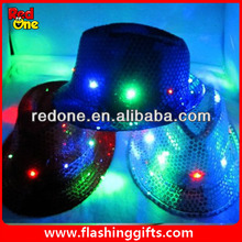 hasta la luz led sombrero para artículos de fiesta espectáculo de danza led de la pac