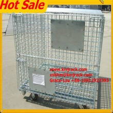Folding Galvanized Iron Hot Sale Steel Crate Wire Metal Cage