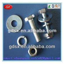 2015 hot sale Various size stainless steel/carbon steel zinc/nickel/black plated hex bolt and nut OEM in china