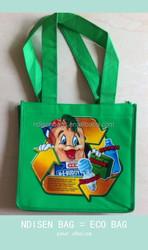 Promotional laminated pp polypropylene non-woven bag, reusable eco nonwoven shopping tote bag