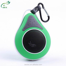 Colorful Portable mini bluetooth speaker top selling with keychain hang or paste on wall with waterproof function
