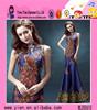 Wholesale Sleeveless Formal Elegant Bead Design Evening Dress Latest High Neck Mermaid Bead Design Evening Dress