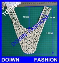 fashion natural embroidered trimming for dresses high quality motif for garments