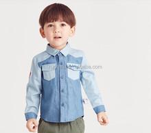 wholesale fashion children Autumn child clothes kids clothing Boys Korean new Boys cufflink plaid shirts